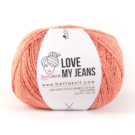 BettaKnit: Love My Jeans – Coral