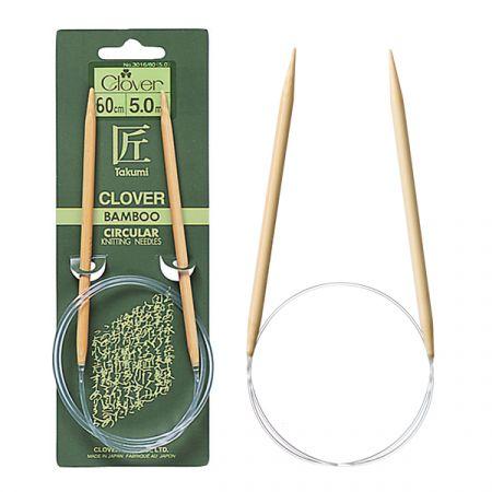 Clover: Takumi – Bamboo Circular Needles 60cm/24inch
