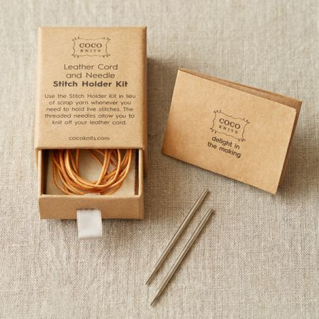 Cocoknits: Leather Cord and Needle Stitch Holder Kit
