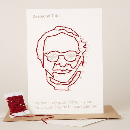 Craftivist Collective: Stitchable Change-maker – Desmond Tutu