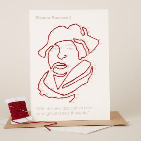 Craftivist Collective: Stitchable Change-maker – Eleanor Roosevelt