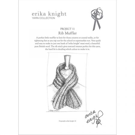 Rib Muffler by Erika Knight