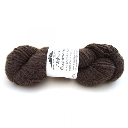 From The Mountain : Afghan Cashmere Sport – Dark Brown