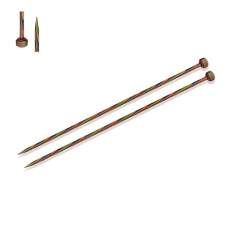 KnitPro: Symfonie Wood Straight Knitting Needles 5mm/UK6/US8