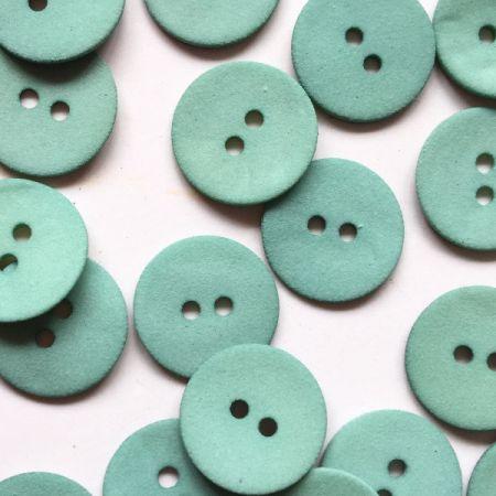 Matt greeny turquoise shell button