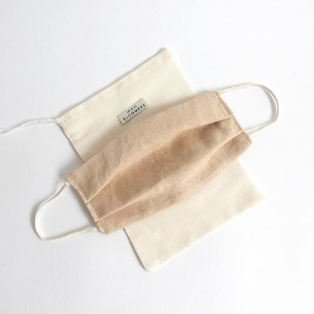 Me & My Bloomers: Face Masks – Naturally Dyed Irish Linen – Fawn