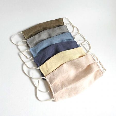 Me & My Bloomers: Face Masks - Naturally Dyed Irish Linen