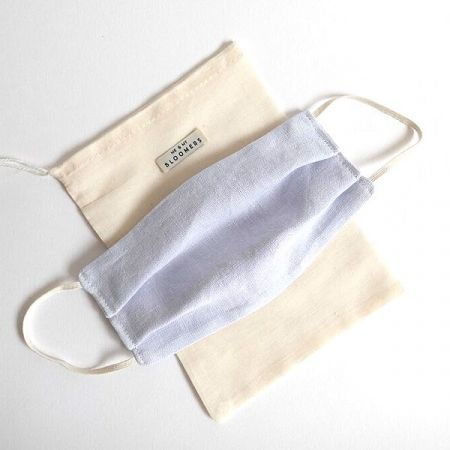 Me & My Bloomers: Face Masks – Naturally Dyed Irish Linen – Pale Blue