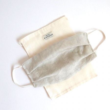 Me & My Bloomers: Face Masks – Naturally Dyed Irish Linen – Stone