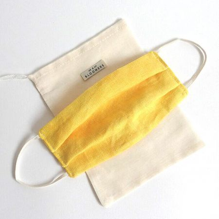 Me & My Bloomers: Face Masks – Naturally Dyed Irish Linen – Yellow