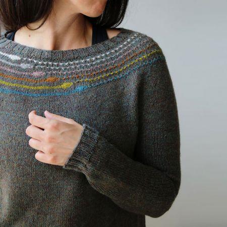 Knit with Attitude: Yarn Kit - Planetary Sweater by Melanie Berg