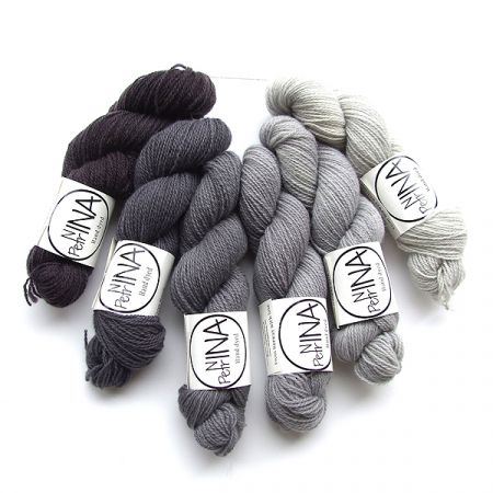 Ninapetrina: Tynn Norwegian Lambs Wool Gradient – Grey