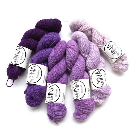 Ninapetrina: Tynn Norwegian Lambs Wool Gradient – Purple