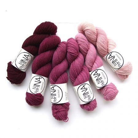 Ninapetrina: Tynn Norwegian Lambs Wool Gradient – Red Wine