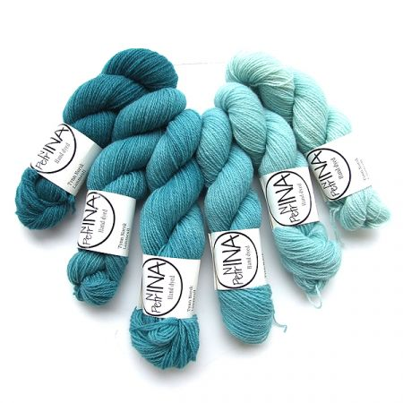 Ninapetrina: Tynn Norwegian Lambs Wool Gradient – Teal