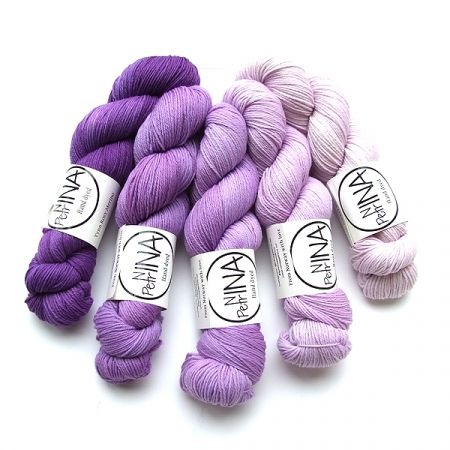 Ninapetrina: Tynn Rosy Merino Gradient – Purple