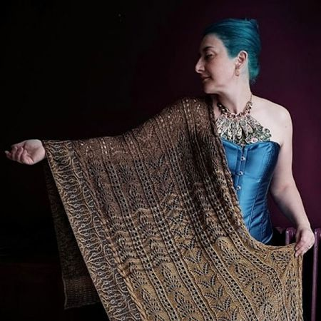 Knit with Attitude: Yarn Kit - Filigree Wrap by Julie Knits in Paris