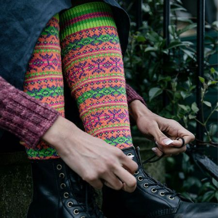 Knit with Attitude: Yarn Kit - Anniversary Collection - Sockitude Knee Highs by Julie Knits in Paris