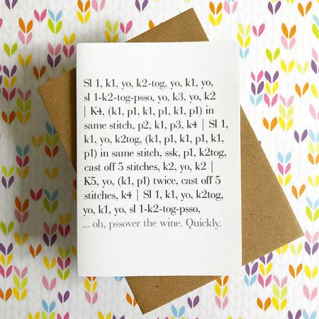 TillyFlop Designs: Greeting Card - Pass Over the Wine. Quickly.