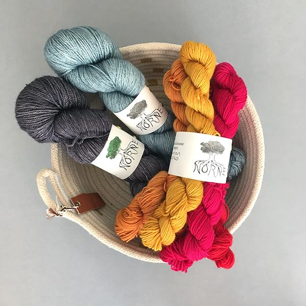 New Yarn: Norne BFL Mini Skein Sets and BFL / Silk / Cashmere