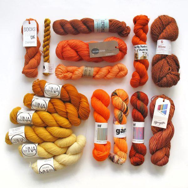 Knit a Rainbow - Orange