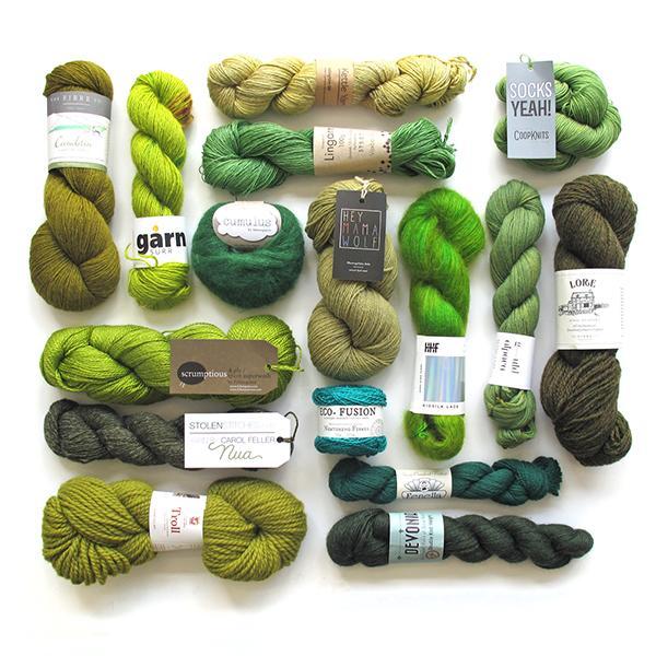 Knit a Rainbow - Green