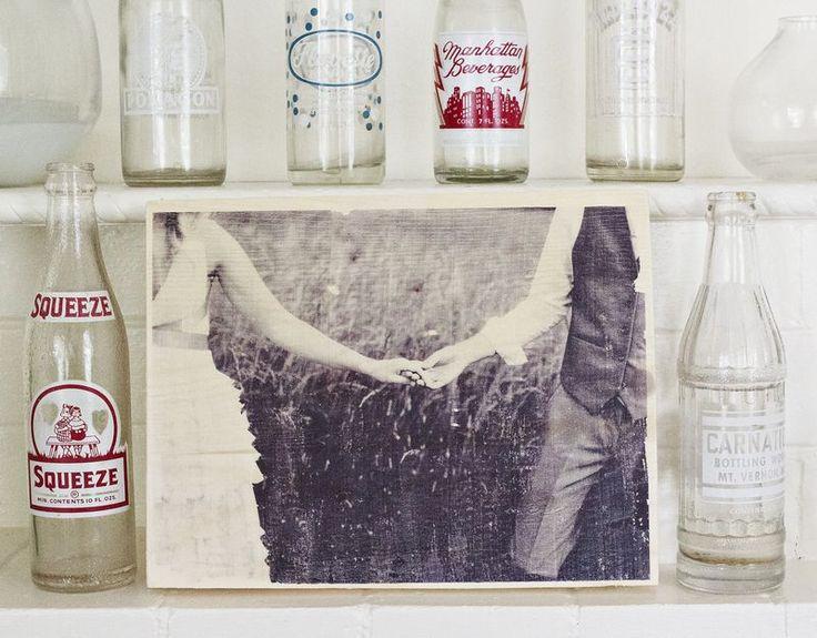 How to transfer a photo onto wood - via a beautiful mess