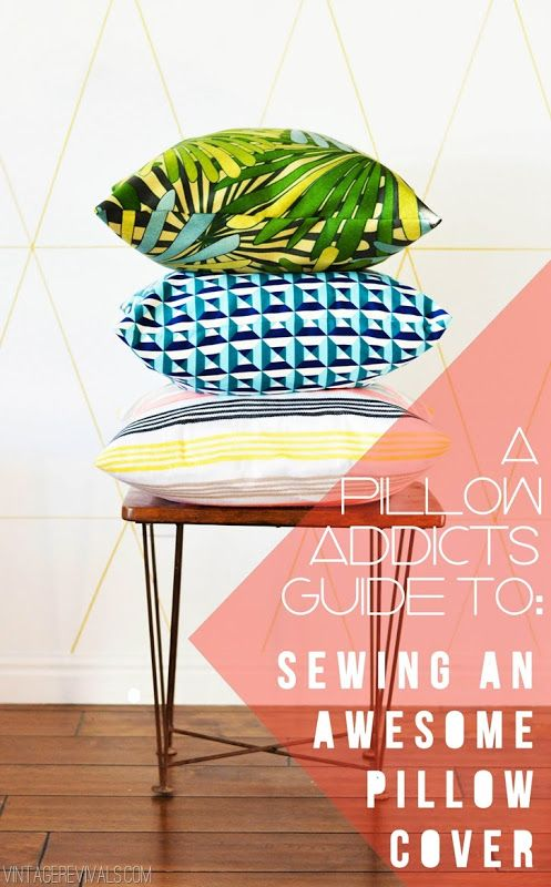 How to sew the perfect cushion -  via Vintage Revivals