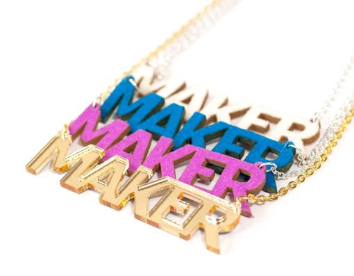 Maker Wool Felt Necklace