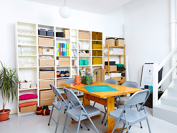 Our designated workshop area, which is available for hire to independent crafty teachers.