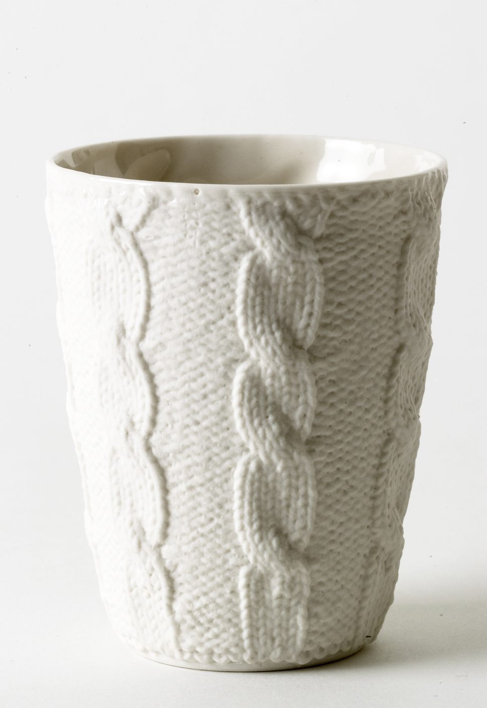 Cable Porcelain Cup by Annette Bugansky