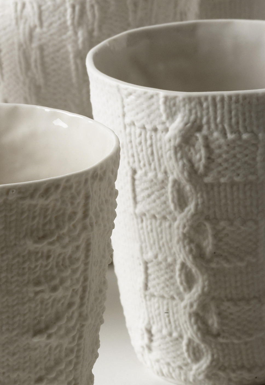 Porcelain Cups by Annette Bugansky