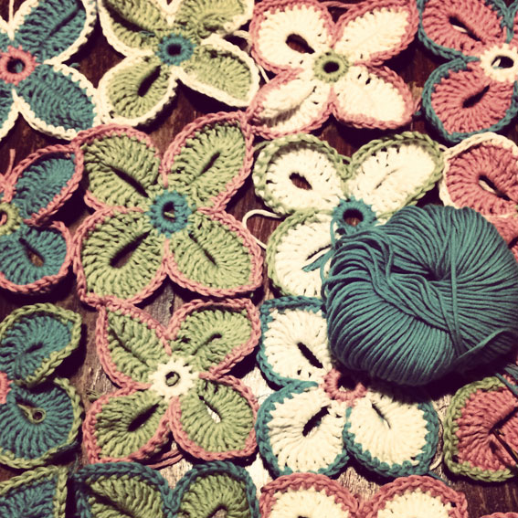 Easter Crochet Flowers