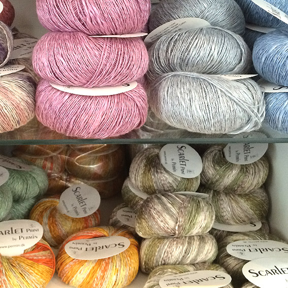 Luxury yarns at Strikke-Bua.