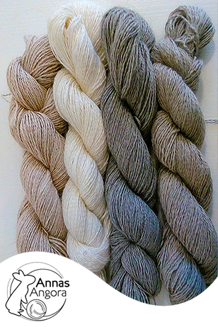 From left to right: Beige, White, Mid Grey, Light Grey.