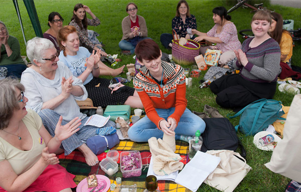 East London knitters with friends