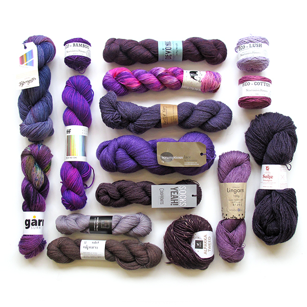 Knit a Rainbow - Purple