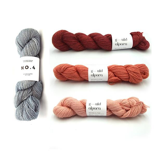 -uld No. 4 in Indigo In20104g and G-uld Alpaca in KWA22, KWA06 and KWA05