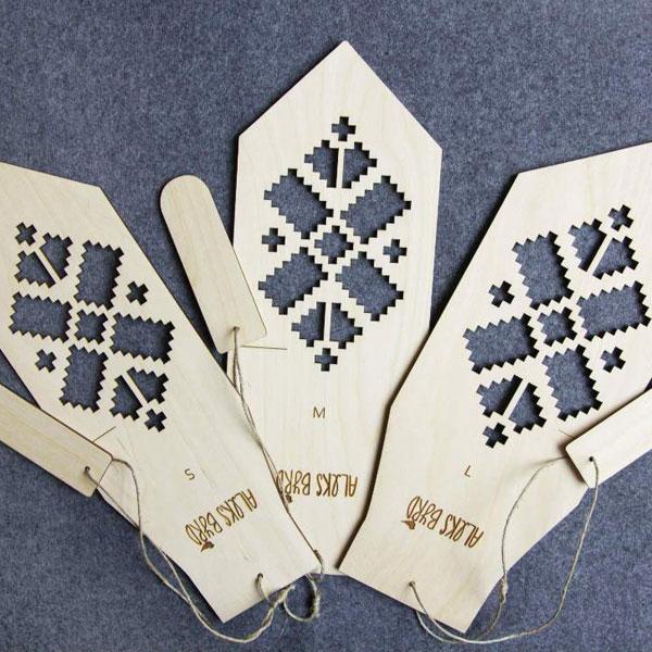 Wooden Mitten Blockers created by Aleks Byrd