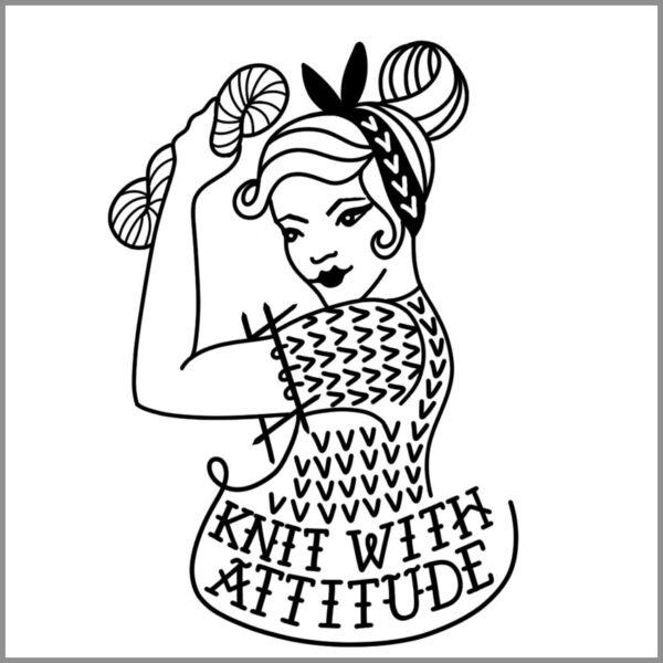 Knit With Attitude Temporay Tattoo