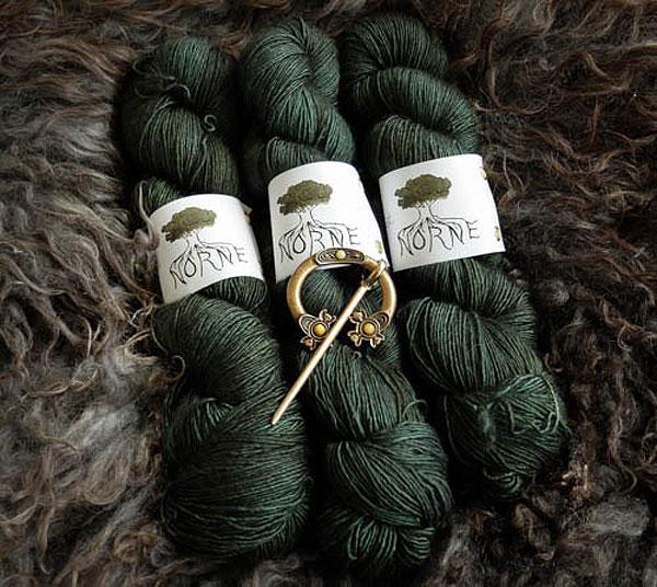 Merino / Silk / Yak Singles of Norne Yarn