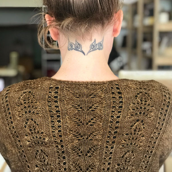 What Maya Knits - Filigree Sweater by Julie Knits in Paris