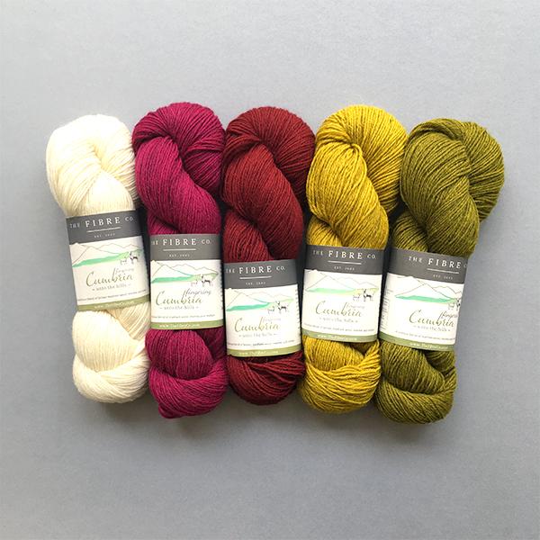 Yarn Kit for Scout Shawl Poppy Field